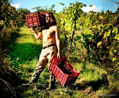 Have your own grape picker......lol
