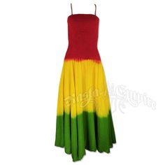 #Rasta Tie-Dye Smocked Summer Dress at RastaEmpire.com.