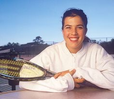 Jennifer Capriati, 19, poses for a 1996Sports Illustrated photo shoot. Capriati, who rose to fame at the age of 13, was selected to the Tennis Hall of Fame on Monday. (Ben Van Hook/SI)