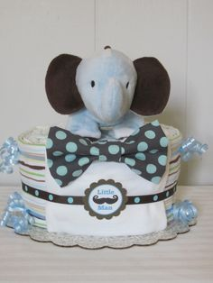 Baby Boy Diaper CakeLittle Man Diaper CakeBaby Boy by LaurasCraft Mini Diaper Cakes, Diaper Cake Boy, Baby Cakes, Baby Boy Gifts, Baby Shower Gifts, November Baby, Cake Business, Baby Socks, Little Man