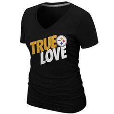Nike Pittsburgh Steelers Ladies True Love Premium T-Shirt - Black  27.95  Steelers T Shirts 32f17061e