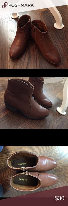 Cute booties! Tan/brown perfect for any fall outfit! Even pairs perfectly with a dress! bamboo Shoes Ankle Boots & Booties