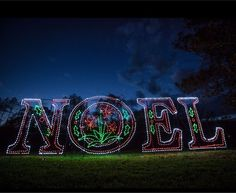 The illuminated Noel sign is one of numerous displays in the Wonderland of Lights Tampa Bay, a 1-mile drive-through holiday show set to open on Thanksgiving night at the Hillsborough County Fairgrounds. Also included is Santa's Village, featuring fun and food for the entire family. The event runs through Dec. 31.