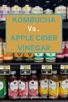 Kombucha and apple cider vinegar both have some awesome health benefits such as improved digestion, brain function, weight loss, and lower risk of some cancers. If you're curious about the pros and cons of each drink and wonder which one is healthier, tap on the pin to read my article! #kombucha #applecidervinegar #healthdrink Kombucha Health Benefits, Probiotic Drinks, Apple Cider Vinegar, Coffee Cans, Brewing, Weight Loss, Awesome, Apple Vinegar, Losing Weight