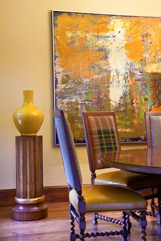 Great artwork for a dinning space: Interiors | Gary Riggs Home