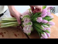 "▶ Bloomtube DIY From our Spring floral trend ""Graphical Layers"" Spring bouquet - YouTube"