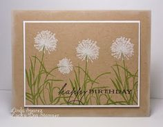 handmade stamped card- I like the use of the white ink on the kraft paper background!