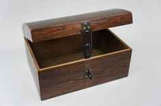 BROWN X LARGE LOCKABLE TREASURE CHEST WOODEN BOX MEMORY BOX TRINKET GIFT SO22bL | eBay