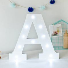 Spell out any name or phrase with these fabulous freestanding Battery operated Letter Lights ! They are intended for internal use so if you do take them outside to make that barbeque extra special, don