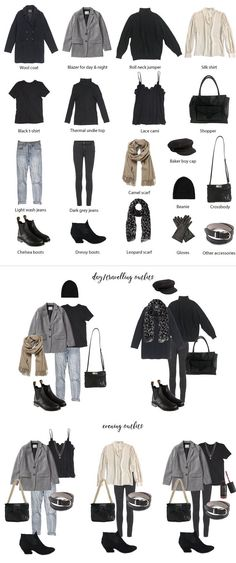 Packing List: a Weekend in London in February. What to pack and Outfit Options. Travel Capsule Wardrobe 2018 Packing List: a Weekend in London in February. What to pack and Outfit Options. Capsule Wardrobe 2018, Travel Wardrobe, London Outfit, Paris Outfits, Mode Outfits, Winter Travel Outfit, Winter Outfits, Paris Packing, Europe Packing