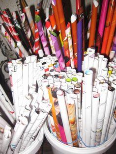 Hemgjord: Tavla av pappersrullar