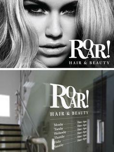ROAR! Hair & Beauty Logo design Beauty Logo, Logo Design, Hair Beauty, Creative, Cute Hair