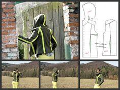 Hoodie / Designer / Pattern / Sewing by Iwakki / Poland.