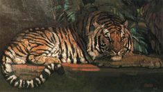 Tiger<br /> Oil on canvas   <br /> 90 x 150 cm