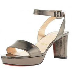 $172  Christian Louboutin Echasse Ankle-Wrap Platform Sandal