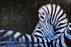 Zebra Acrylic Painting by Daniel Schausberger -SCHAUSI- Format 150cm x 100cm www.facebook.com/danielschausberger.art
