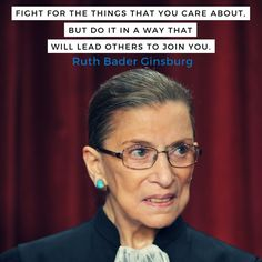 """2,809 Likes, 16 Comments - Upworthy (@upworthy) on Instagram: """"Today, Supreme Court Justice Ruth Bader Ginsburg, words of wisdom"""