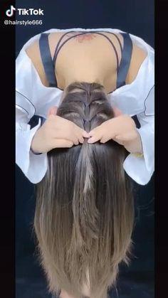 Hairdo For Long Hair, Long Hair Video, Bun Hairstyles For Long Hair, Girl Hairstyles, Hair Style Vedio, Shaggy Short Hair, Girl Hair Dos, Front Hair Styles, Hair Styler