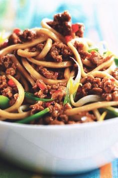 Try this healthier, low in saturated fat Singapore Noodles recipe with Quorn's Meat Free Mince for a low calorie meal. Click to get tasty meal ideas from Quorn.