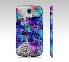 BEAUTY IN the RAIN Samsung Galaxy s3 s4 s5 gs3 gs4 by EbiEmporium, $40.00 #rainy #rain #storm #colorful #whimsical #painting #watercolor #abstract #weather #purple #blue #teal #periwnkle #samsung #galaxy #sgs3 #sgs4 #sgs5 #galaxy #gs3 #gs4 #gs5 #typography #font #heart #love #fun #pretty #feminine #techie #tech #device #case #cover #hardcase #phone #weather #sky #clouds #cloudy #hipster #inspiration #motivation #colorful #bold #pastel