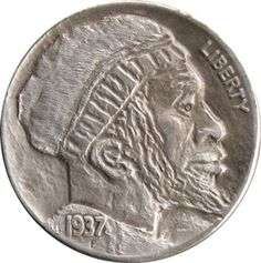 John Carter - Obverse of 2 sided hobo 'Man with a Backpack'