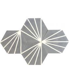 Hexagonal Graphic Cement Tiles by TERRAZZO-TILES. http://www.terrazzo-tiles.co.uk/hexagonal-graphic-cement-tiles.html