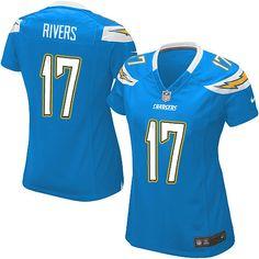 c0d969c89 Women s Nike San Diego Chargers  17 Philip Rivers Elite Alternate Light  Blue Jersey Kids Football