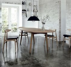 Danish design by Hans Wegner and Carl Hansen. Loved by http://skandihus.blogspot.co.uk/