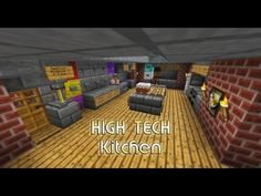 High Tech Kitchen / House - small and easy - Minecraft - http://www.thehowto.info/high-tech-kitchen-house-small-and-easy-minecraft/