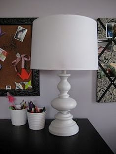 See the before here.    http://www.markovadesign.com/2010/01/from-gram-to-glam-thrift-lamp-makeover.html