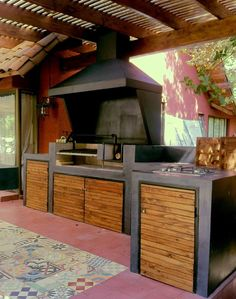 Outdoor Kitchen Ideas - An outside cooking area will certainly make your residence the life of the party. Use our layout concepts to assist produce the ideal space for your outdoor kitchen area appliances. Outdoor Bbq Kitchen, Outdoor Barbeque, Outdoor Kitchen Design, Outdoor Cooking, Patio Design, House Design, Parrilla Exterior, Barbecue Design, Rico Design