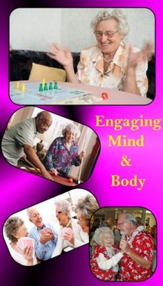 Fun activities to do with seniors at nursing homes. Most people in nursing homes are very lonely and they appreciate visitors so much!!