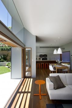 Sliding doors with windows above