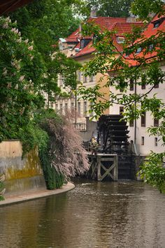 I love grist mills. They're rarely used anymore, a thing from our past... Grist Mill in Prague, Czech Republic
