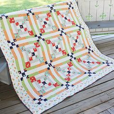Simple and quick quilt free quilt pattern, I like the colors