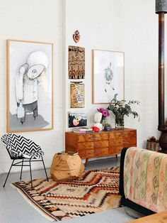 This Melbourne home belongs to artist Carla Fletcher and her husband musician Brett Langsford.