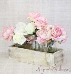 Rustic Chic Planter Box Wedding Centerpiece Vase by braggingbags, $19.99