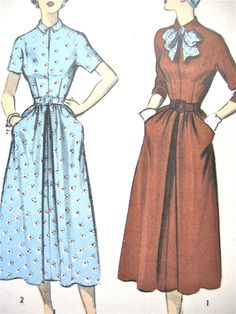 Vintage 5417 sewing pattern from the 1950s.  Bust 32 by Fancywork, $10.00