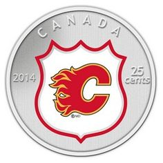 Royal Canadian Mint 2014 25c NHL Coin and Stamp Gift Set Calgary Flames $29.95 #coin #coins #hockey #nhl #calgary #flames #calgaryflames