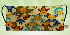 Monkey Cotton face mask, Mouth protection, medical mask, funny monkeys, washable, fits all, Monkeys
