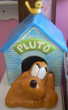 Disney Pluto Limited Edition of 1000 Cookie Jar made in USA by Treasure Craft