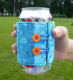 Quench your thirst for a fun summer sewing project with this cool soda can cozy. (I have to make a bunch of these!)