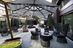 Grand Hotel Boscareto terrace www. Outdoor Tiles, Outdoor Flooring, Outdoor Decor, Grand Hotel, Hotel Spa, Terrace, Tile Floor, Patio, Luxury