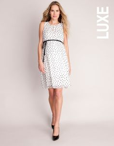 2a7acc16f41 Pure Silk Polka Dot Maternity Dress