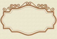 Looking for your next project? You're going to love Vintage Frame Embroidery Design 2 Sizes by designer Johann Esteban Jaimes.