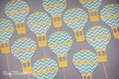 Hot Air Balloon  Cupcake Toppers  Love Is In The Air