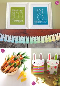 bunny garland template | 10. Swap out your stand-by decor for these cheerful Peep-inspired ...