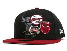 6db59b3f877b1 Chicago Bulls NBA Patch Batcher 59Fifty Fitted Baseball Cap by NEW ERA x  NBA Fitted Baseball