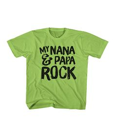 Its All Relative Key Lime Nana & Papa Rock Tee - Toddler & Kids | zulily