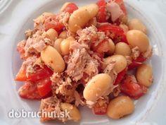 Fotorecept: Fazolový-tuňákový salát s rajčaty